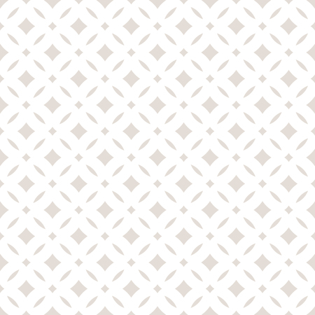 Subtle abstract seamless floral pattern Vector beige and white pastel background. Ilustração