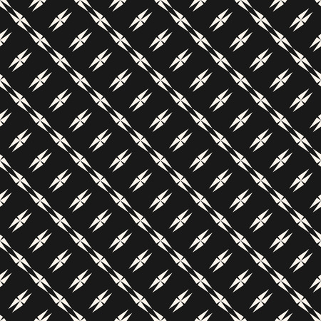 Abstract geometric seamless texture with edgy shapes, diagonal lines, stars, crosses.