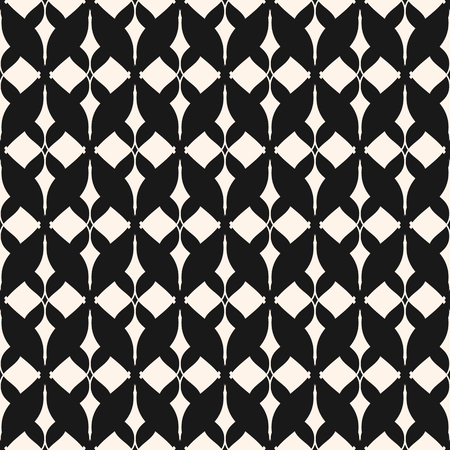 Ornament seamless pattern. Black and white ornamental texture with lattice, mesh, lace.