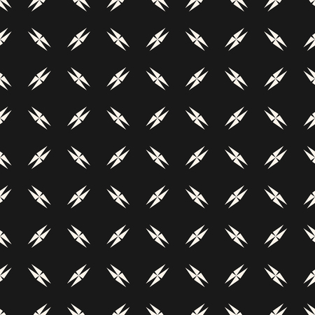 Vector minimalist seamless texture with small edgy geometrical shapes, crosses, triangles. Abstract monochrome pattern. Modern dark repeat background. Design for decor, wallpaper, digital, web, covers