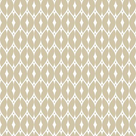 Elegante vector gouden naadloze mazenpatroon. Subtiele geometrische ornamenttextuur met dunne gebogen lijnen, delicaat gaas, net, raster, rooster, kant. Goud en wit luxe achtergrond. Art deco-stijl ontwerp