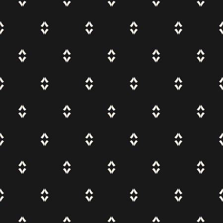 Minimalist vector seamless pattern. Simple dark geometric texture. Abstract minimal background with small linear shapes. Black and white design element for decor, fabric, cloth, wrapping, covers, web