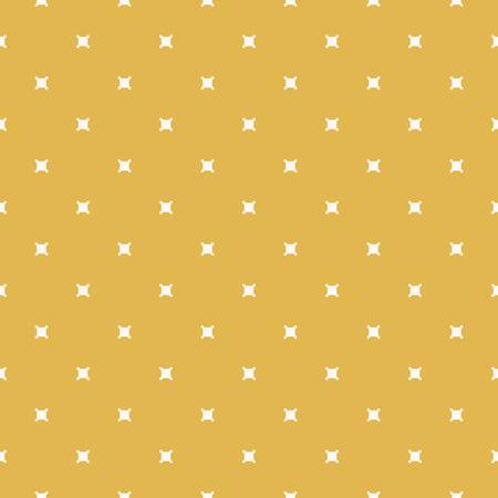 Minimalistyczny geometryczny wzór. Kolor żółtej musztardy. Jesienne tło. Proste wektor streszczenie tekstura z małymi kwadratowymi kształtami, krzyże. Minimalny powtarzalny projekt wystroju, nadruków, owijania Ilustracje wektorowe