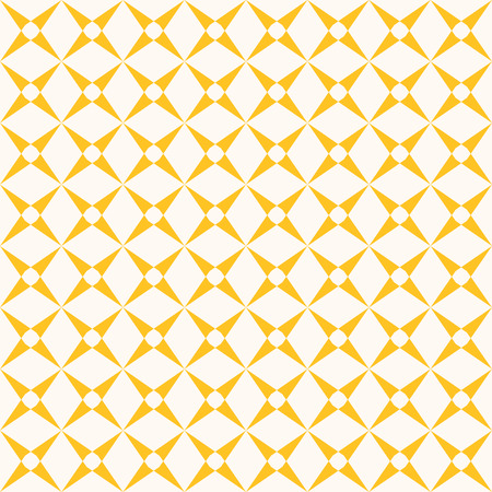 Vector grid seamless pattern. Abstract geometric texture with crossing lines, square grid, mesh, lattice, grill. Simple bright colorful background. Yellow and white repeat design. Stylish ornament Illustration