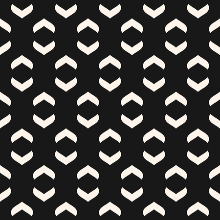 Vector geometric texture with curved arch shapes. Abstract modern black and white seamless pattern. Minimalist monochrome background. Stylish dark repeat design for decor, textile, fabric, carpet