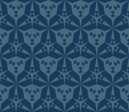 Vector abstract geometric seamless pattern. Stylish background with triangular shapes, hexagonal grid.  Modern geometry texture in deep blue color. Repeatable design for decor, package, wallpapers 向量圖像