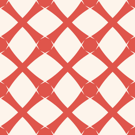 Vector geometric grid background texture. Abstract seamless pattern in terracotta red and white colors. Simple graphic ornament with cross lines, square grid, lattice, net, mesh, weave, repeat tiles Illusztráció