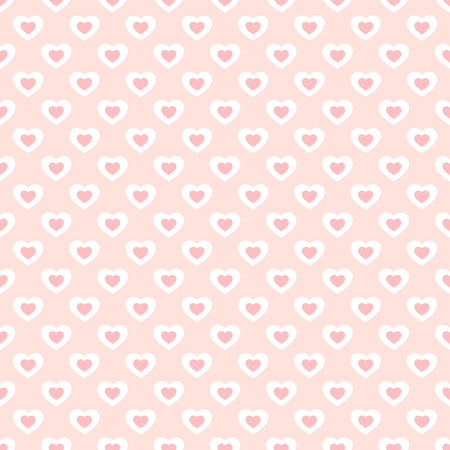 Valentines day background with small hearts. Vector seamless pattern in soft pastel colors, pink and white. Subtle abstract geometric texture, repeat tiles. Love romantic theme. Design for decoration Archivio Fotografico - 127594558