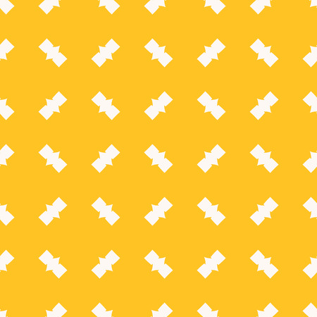 Vector funky yellow geometric seamless pattern. Abstract colorful background with small angular figures, geometrical elements in diagonal array. Simple repeatable texture. Stylish decorative design