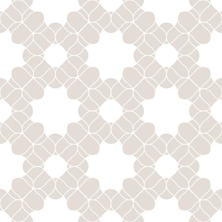 Vector lace seamless pattern. Subtle beige and white floral texture. Abstract vintage geometric background with mesh, lattice, weave. Elegant repeat ornament. Design for decor, wallpapers, textile