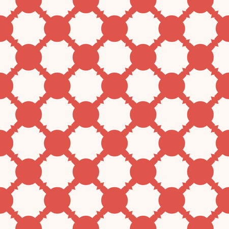 Elegant vector geometric seamless pattern with grid, mesh, net, lathing. Red and white abstract background. Retro style vintage fashion texture. Repeating design for decor, prints, textile, wallpapers