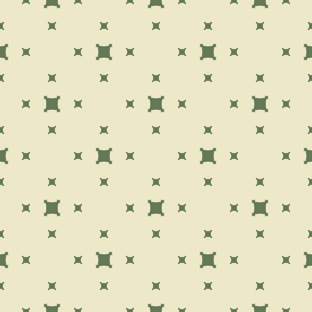 Green vector geometric seamless pattern. Simple abstract texture with small square shapes, repeat tiles. Fresh organic theme background. Greenery color. Design for decoration, fabric, cloth, wrapping