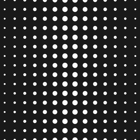 Vector monochrome seamless pattern, black & white halftone transition, different sized circles. Half tone dots background. Simple modern geometric texture. Trendy design for prints, decor, web, fabric 向量圖像