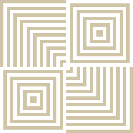 Vector golden line geometric texture. Abstract white and gold seamless pattern. Simple graphic texture with squares, lines, repeat tiles. Modern linear background. Trendy design for home decor, prints