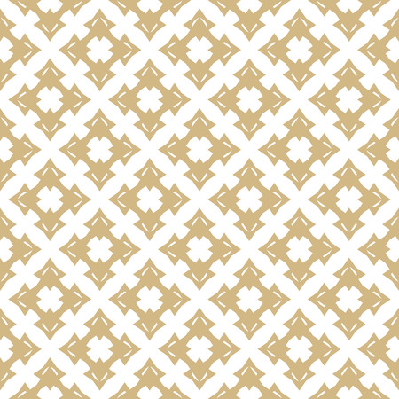 Vector golden ornamental pattern in oriental style. Abstract geometric seamless texture with floral shapes, stars, crosses. Elegant gold and white background. Luxury ornament design, repeat tiles