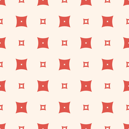 Simple minimalist vector geometric texture. Abstract seamless pattern with small red perforated squares. Funky minimal colorful background. Retro vintage fashion. Repeat design for prints, decoration