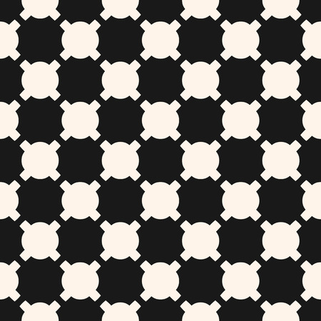 Vector geometric checkered pattern, modern seamless texture with rounded shapes in staggered grid. Abstract monochrome background. Stylish modern black and white design for decor, fabric, carpet