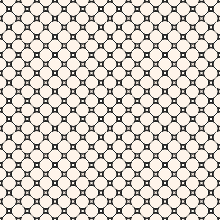 Circular mesh texture. Vector seamless pattern with small circles and squares, delicate perforated surface. Simple abstract monochrome geometric background, repeat tiles. Design for decor, fabric 矢量图像
