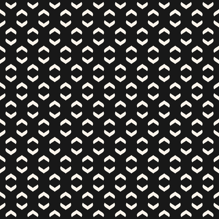 Vector geometric texture with curved arch shapes, small elements. Abstract modern black and white seamless pattern. Minimalist monochrome background. Stylish dark repeat design for decor, covers, web