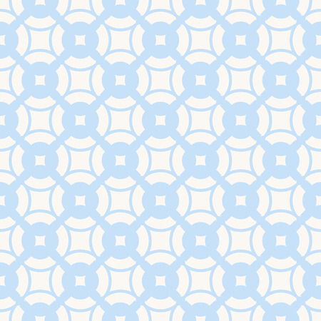 Subtle minimal geometric pattern in blue and white colors. Delicate abstract texture with curved shapes, grid, lattice, mesh, repeat tiles. Simple elegant background. Design for boys, girls, babies