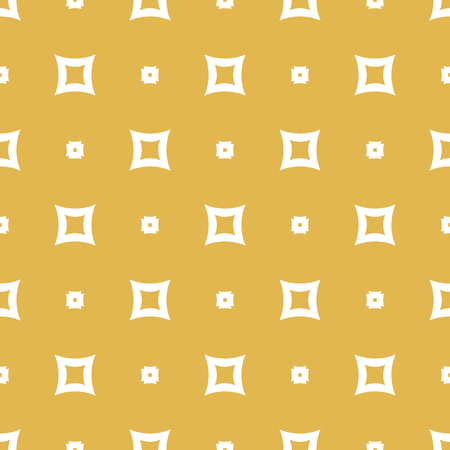 Yellow vector seamless pattern. Simple geometric texture with small square shapes. Abstract minimalist background. Autumn colors. Design for decoration, fabric, textile, wrapping, curtains, covers Illustration