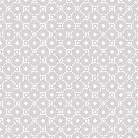 Subtle vector geometric seamless pattern with squares and circles, delicate rounded grid. Simple silver abstract background. Texture in neutral colors, white and gray. Design for decoration, fabric Standard-Bild - 124654533