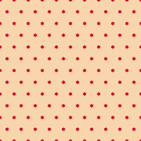 Vector minimalist seamless pattern. Simple red and beige texture with tiny stars, floral shapes. Abstract minimal background. Luxury repeatable design for holiday decor, wallpapers, textile, clothing Иллюстрация