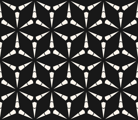 Vector geometric seamless pattern with triangles, lattice, grid, mesh, thin lines. Modern black and white geometry. Abstract monochrome background texture. Stylish dark design for decor, covers, web