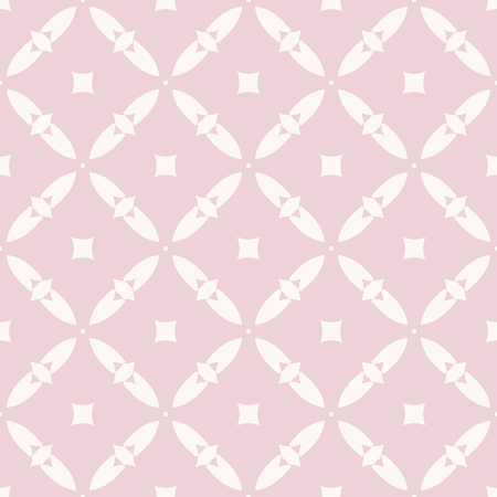 Elegant vector seamless pattern. Geometric ornament in soft pastel colors, pink and beige. Abstract texture with small diamond shapes, squares, grid, lattice. Simple repeat background. Cute design Иллюстрация