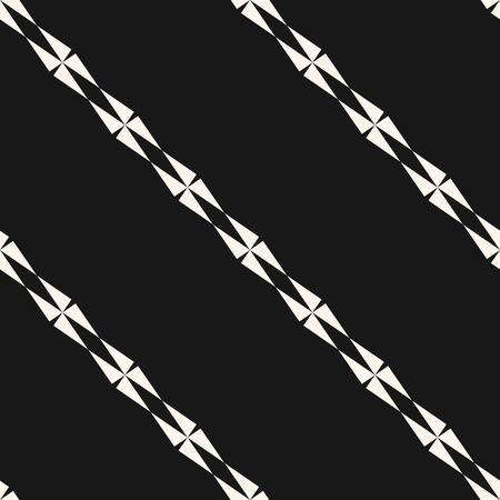 Vector minimalist geometric seamless pattern with diagonal lines, stripes, edgy shapes. Simple monochrome striped texture. Abstract black and white background. Modern dark minimal repeatable design 向量圖像