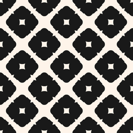 Ornamental seamless pattern. Stylish vector geometric texture, monochrome ornament. Square shapes, diagonal grid. Abstract background in oriental style. Repeat design for decor, tiling, fabric, cloth