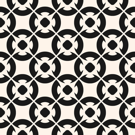Ornamental seamless pattern, vector geometric floral texture, monochrome ornament, delicate lattice. Abstract repeat background in oriental style. Design for prints, decor, tiling, furniture, fabric