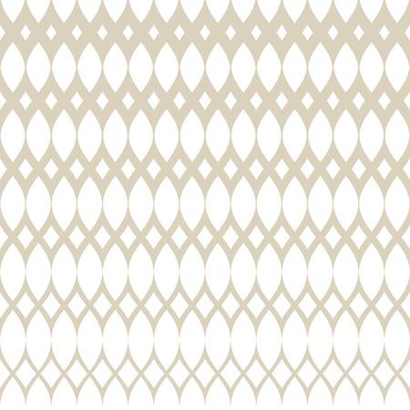 Gouden vector halftone naadloze rasterpatroon. Subtiele witte en gouden abstracte geometrische textuur met mesh, raster, rooster, weefsel, weefsel, net. Gradiënt overgangseffect. Luxe herhaalbare achtergrond Vector Illustratie