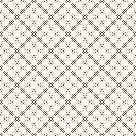 Motif géométrique sans couture de vecteur avec grille carrée, treillis, maille, filet, lignes fines, répéter les carreaux géométriques. Texture élégante d'ornement noir et blanc. Conception de fond monochrome abstrait subtil