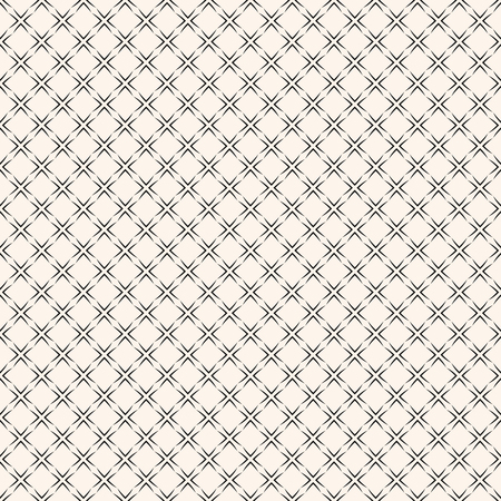 Vector geometric seamless pattern with square grid, lattice, mesh, net, thin lines, repeat geometric tiles. Elegant black and white ornament texture. Subtle abstract monochrome background design