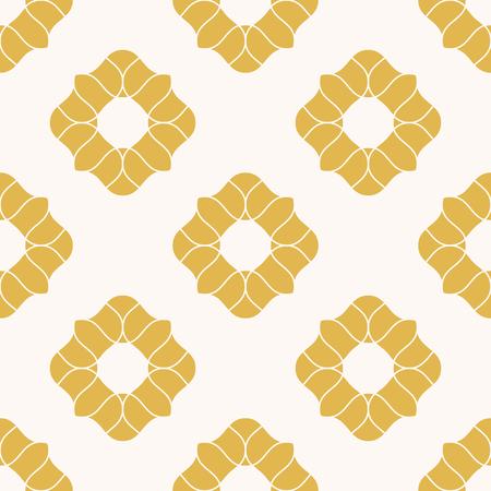 Modèle sans couture de fleurs jaunes. Texture florale géométrique de vecteur. Abstrait dans un style oriental. Ornement répétitif de luxe. Design élégant pour la décoration, le textile, le rideau, le tissu, les papiers peints
