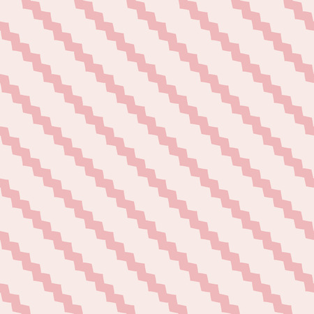 Vector geometric lines pattern. Pink abstract graphic striped ornament. Simple geometry, stripes, zig zag, chevron. Subtle modern linear background. Cute design for decoration, prints, cloth, textile Illustration