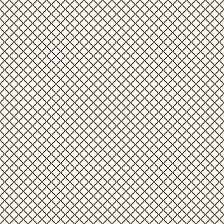 Vector seamless pattern, simple black and white geometric texture.  Simple monochrome illustration of mesh, fishnet, lattice, tissue structure. Endless abstract background. Subtle repeatable design 矢量图像