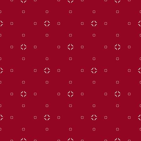 Modèle sans couture simple vecteur minimaliste. Texture géométrique rouge foncé abstraite. Fond minimal subtil avec de petites formes florales, diamants. Répétez la conception pour la décoration, l'impression, les papiers peints, le textile, la couverture