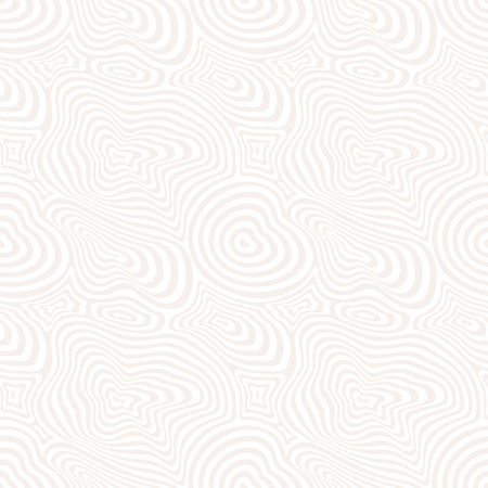 Vector seamless pattern. Fine curved lines, subtle background, pastel colors. Abstract dynamic rippled texture, moving surface. 3D optical effect, illusion of movement. Pop art design, repeat tiles 矢量图像