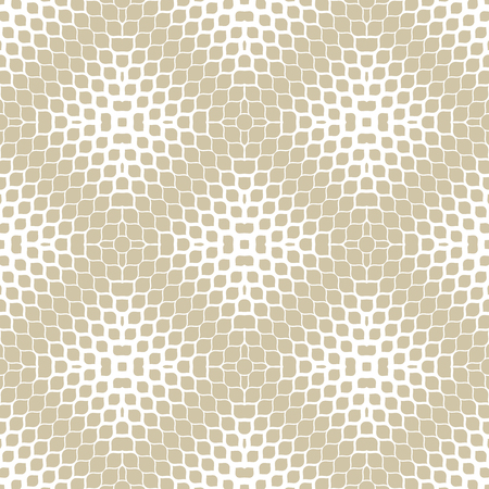 Golden vector halftone texture. Abstract geometric seamless pattern with gradient transition effect, small ovate shapes, petals, leaves. Gold and white minimal repeat background. Luxury modern design