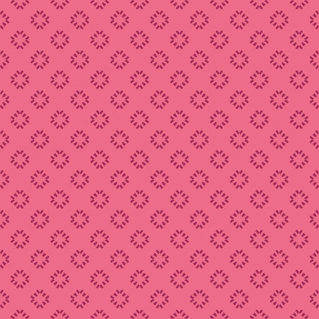 Vector floral minimalist seamless pattern. Simple abstract background with small geometric flowers, petals, crosses. Minimal ornament texture in pink and burgundy color. Cute repeat decorative design
