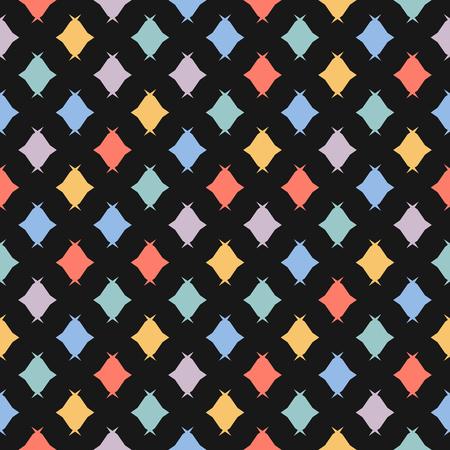 Modèle sans couture de bonbons. Texture vectorielle minimaliste colorée avec de petits bonbons, des losanges. Fond minimal géométrique abstrait mignon. Style de mode pour enfants. Répétez la conception pour la décoration, le tissu, l'emballage