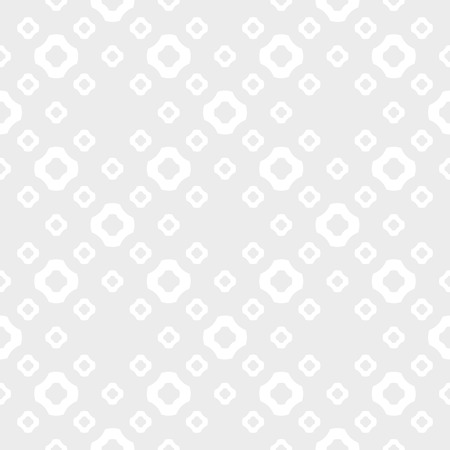 Vector minimalist geometric seamless pattern. Subtle texture with flower silhouettes, circles, crosses, dots. Simple abstract white and light gray background. Minimal repeat design for decor, fabric