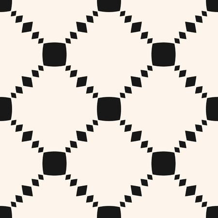 Vector geometrische naadloze patroon met kleine vierkantjes, raster, rooster, net, herhaal tegels. Eenvoudige minimalistische zwart-witte achtergrond. Abstracte minimale zwart-wit textuur. Ontwerp voor decor, keramiek