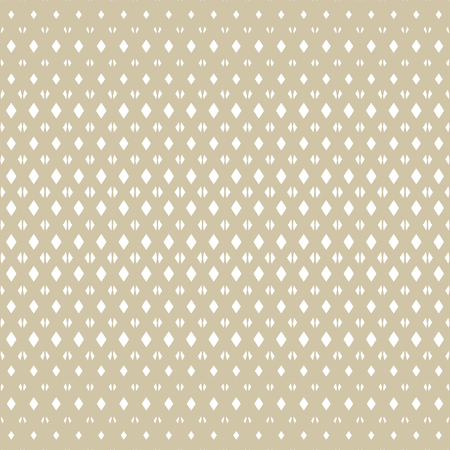 Golden vector grid seamless pattern. White and gold texture with lattice, net, mesh, diamonds, rhombuses. Vertical gradient transition effect. Abstract halftone geometric background. Luxury design