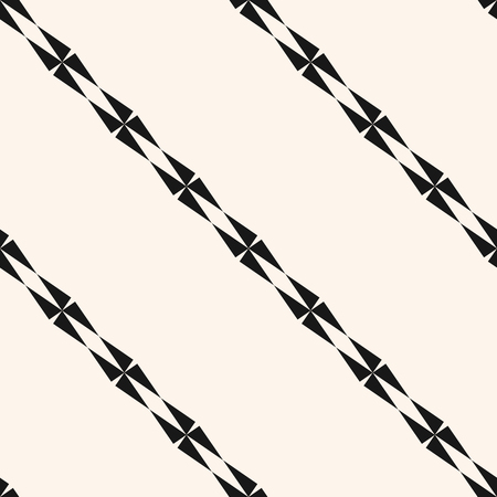 Vector minimalist geometric seamless pattern with diagonal lines, stripes, edgy shapes. Simple abstract monochrome texture. Black and white striped background. Modern minimal repeat design for decor 向量圖像