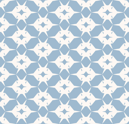 Vector geometric seamless pattern. Simple ornament with grid, net, mesh, lattice, repeat tiles. White and blue texture. Minimal abstract background. Cute modern design for decor, wallpapers, textile