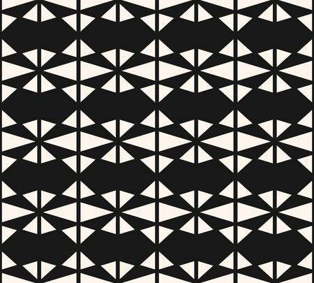 Geometrische naadloze patroon. Vector abstracte zwart-wit geometrische textuur met verschillende driehoeken, raster, net, rooster. Stijlvolle zwart-wit grafische achtergrond. Herhaalbaar ontwerp voor decor, prints