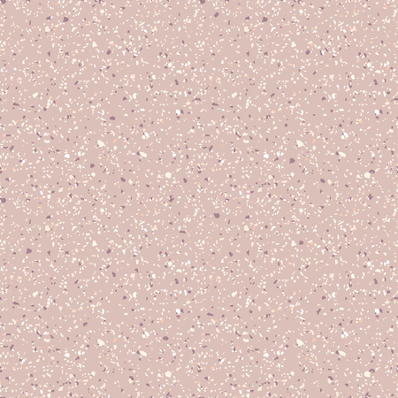 Terrazzo marble seamless pattern. Vector texture of mosaic floor with natural stones, granite, marble, quartz, limestone, colored glass, concrete. Terazzo flooring. Sandy background in pastel colors
